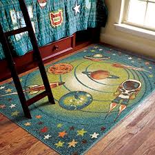 Area Rug For Kids Room by Orian Rugs Kids Spacewalk Blue Area Rug 5 U00272