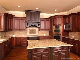 kitchen color ideas with cherry cabinets cherry cabinets house of designs