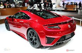 acura supercar special model of the acura nsx supercar at the auto show in new