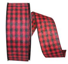 and black plaid ribbon christmas ribbon plaid checked striped