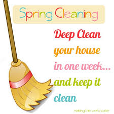 how to spring clean your house spring cleaning deep clean your whole house in a week