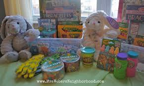 easter basket gifts 25 easter basket ideas for kids mrs weber s neighborhood