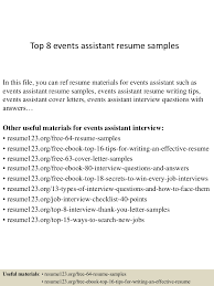 Sample Resume Format For Domestic Helper by Top8eventsassistantresumesamples 150409002411 Conversion Gate01 Thumbnail 4 Jpg Cb U003d1428557101