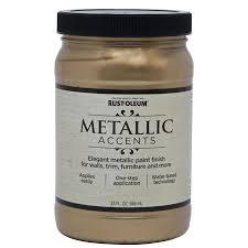 shop rust oleum metallic accents soft gold metallic gloss metallic