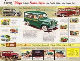 jeep station wagon 1953 jeep deluxe station wagon foldout 02