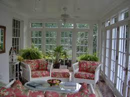 Sunroom Sofas Interior Great Sunroom Design Idea Black And White Striped Sofas