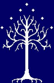 white tree of gondor lotr inspired cross stitch pdf pattern