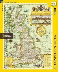 Britain Map Shakespeare U0027s Britain U2013 New York Puzzle Company