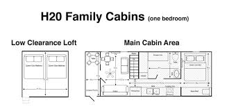 one bedroom cabin floor plans family cabins one bedroom jellystone park