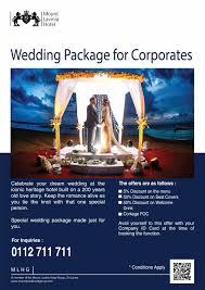 wedding package deals wedding package for corporates mount lavinia hotel excellent