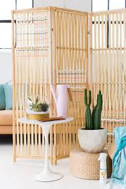 Rattan Room Divider Folding Screens Might Be The Coolest Decor Throwback Ever Brit Co