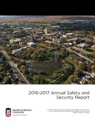 Niu 2016 2017 Annual Safety U0026 Security Report By Northern Illinois