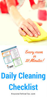 house cleaning images daily cleaning routine printable housewife how to s