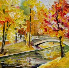 paint dream yellow dream palette knife oil painting on canvas by leonid