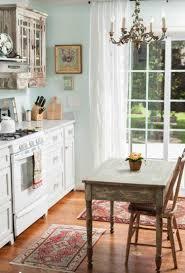 cuisine shabby design interieur cuisine shabby chic coin repas table chaises