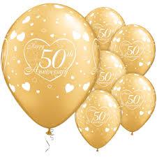 fiftieth anniversary 50th anniversary gold 11 inch balloons 1028 p jpg 600 600
