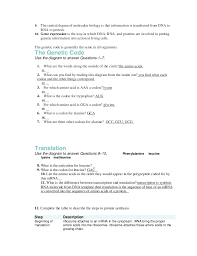rna worksheet answers the best and most comprehensive worksheets