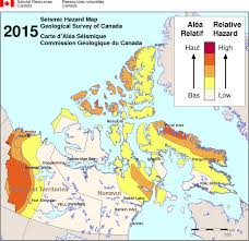 Canada Territories Map by Simplified Seismic Hazard Map For Canada The Provinces And