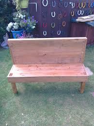 pallet garden bench and chair