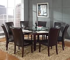 steve silver hartford 9 piece round dining room set w brown