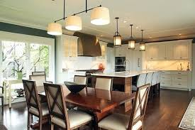 kitchen and dining room lighting over dining table lighting dining room light height home