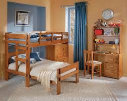 bedroom unfinished wooden l shaped bunk beds design for baby boys