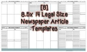 article templates 8 5x14 legal size editable in ms word