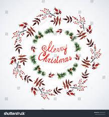 decorations christmas plants watercolor christmas decor stock
