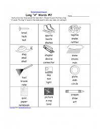 long vowel worksheets for kindergarten koogra