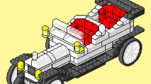 yellow rolls royce movie lego instructions pixel art movie 395 1909 rolls royce youtube