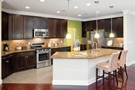 traditional kitchen with black flush light pendant lighting for