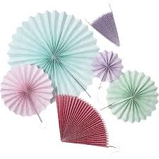 hanging paper fans set of 6 colourful hanging paper fans rice dk vibrant home