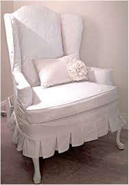 white wing chair slipcover wing chair slipcover christine lindsay