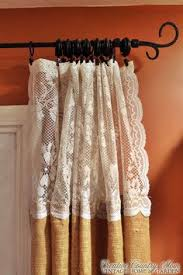 Lace For Curtains Creative Country Mom U0027s Sewing Burlap And Lace Curtains Sewing