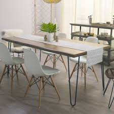 uncategories expandable dining room table rectangular pedestal