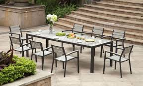 Outdoor Patio Dining Chairs Lowes Outdoor Patio Dining Set Rst Brands Deco 9 Piece Composite