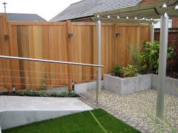 Modern Fence by Contemporary Cedar Fencing Panels From A Garden Designed By Sue