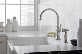 How To Install A Kohler Kitchen Faucet Kohler K 99272 Cp Artifacts 3 Hole Kitchen Faucet Escutcheon