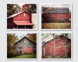 Red Shed Home Decor Farmhouse Print Farmhouse Decor Barn Art Barn Large Print