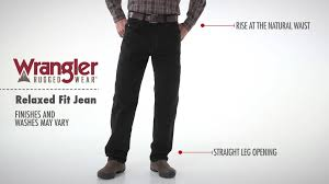 Rugged Wear Clothing Wrangler Rugged Wear Men U0027s Black Relaxed Fit Jeans Youtube