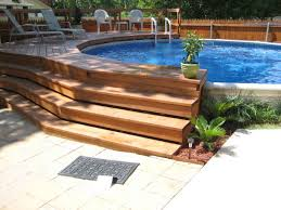 deck designs for above ground swimming pools ideas with wooden