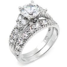 wedding engagement rings sterling silver cubic zirconia wedding engagement ring