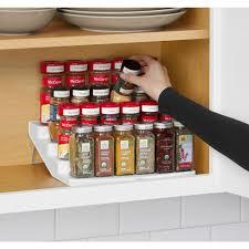 kitchen cabinet spice racks spice racks jars kitchen storage organization the home depot