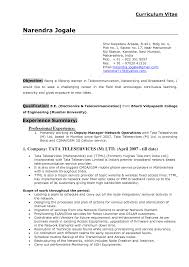 Sample Undergraduate Resume Cv Samples India