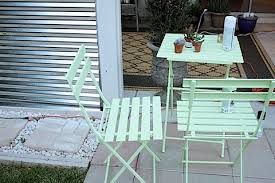 Lime Green Bistro Table And Chairs Glimpse Of The Patio Re Do Made By