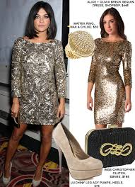 new years glitter dresses get the look szohr s new year s ready gold dress fashion