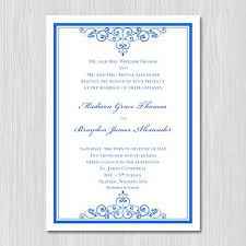 Wedding Announcement Template Royal Blue Wedding Invitation Templates Yaseen For