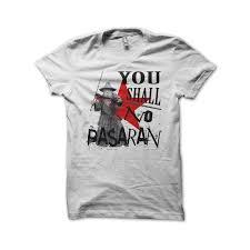 gandalf parody no pasaran white t shirt redzila