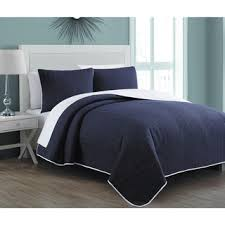 Navy Quilted Coverlet Madison Park Jaxson Navy Quilted Coverlet Set Free Shipping