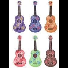 6 ukulele tattoos colors and hibiscus flowers designs maori